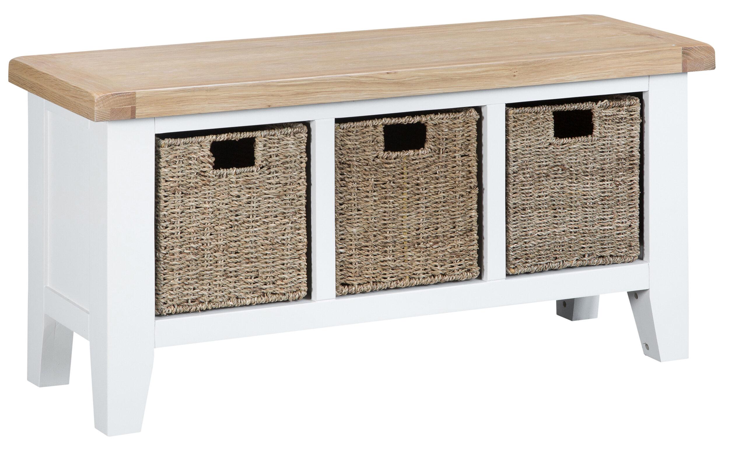 Three Posts Lemuel Large Wood Storage Bench Reviews Wayfair Co Uk