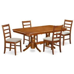 Pillsbury Contemporary 5 Piece Wood Dinin..