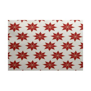 Christmass Geometric Red Indoor/Outdoor Area Rug