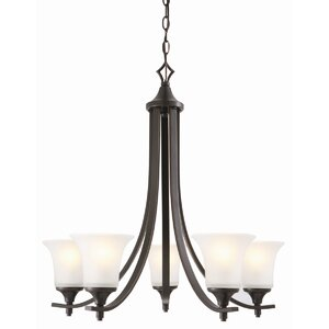 Juneau 5-Light Shaded Chandelier