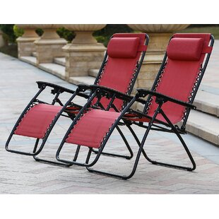 Reclining Folding Zero Gravity Chair (Set of 2)