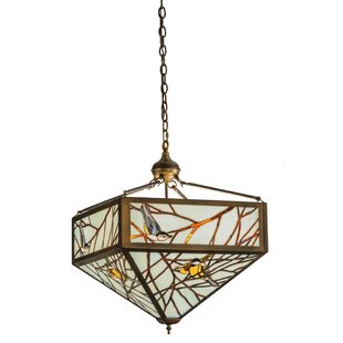 Meyda Tiffany Backyard Friends 4-Light Bowl Pendant