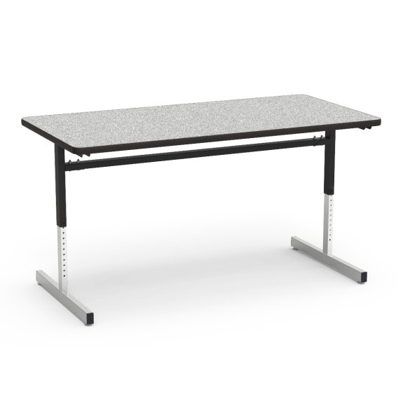 Virco Series Height Adjustable Training Table With Casters - Adjustable height training table