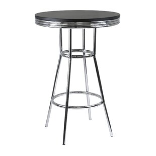 Clarksburg Modern Metal Pub Table Red Barrel Studio