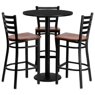 Lomonaco 4 Piece Pub Table Set by Winston Porter