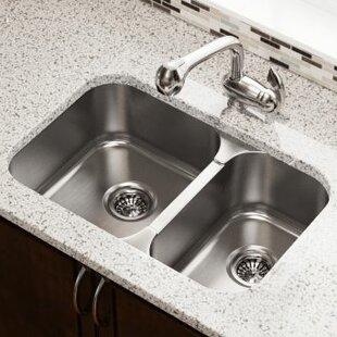 27 5   x 18   double bowl undermount kitchen sink 27 inch kitchen sink   wayfair  rh   wayfair com