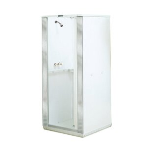 E.L. Mustee & Son Durastall Square Sliding Shower Enclosure with Base Included