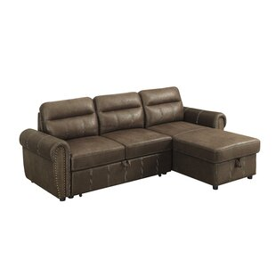 Buy clear Estepp Reversible Sleeper Sectional by Winston Porter Reviews (2019) & Buyer's Guide