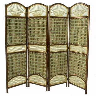 D-Art Collection Seagrass 4 Panel Room Divider