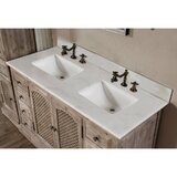 Clemmie Double Bathroom Vanity Set with Linen Tower by Laurel Foundry Modern Farmhouse