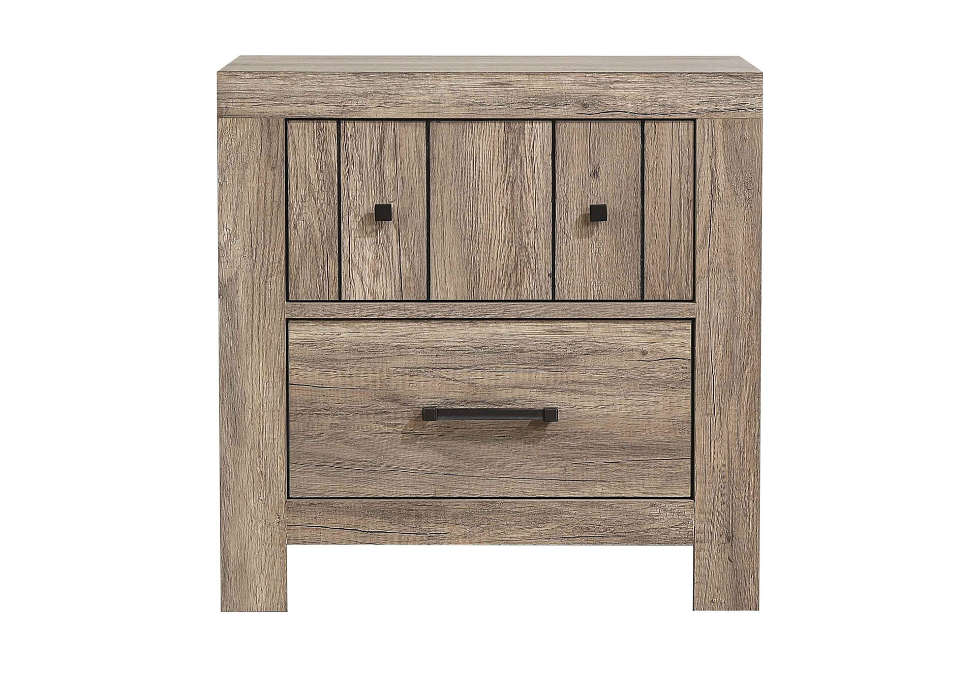 Foundry Select Marksbury 2 Drawer Nightstand In Rustic Oak Wayfair