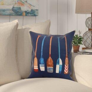 Crider Oar Multi Painted Print Indoor/Outdoor Throw Pillow