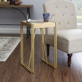 Rodney Wood and Metal End Table