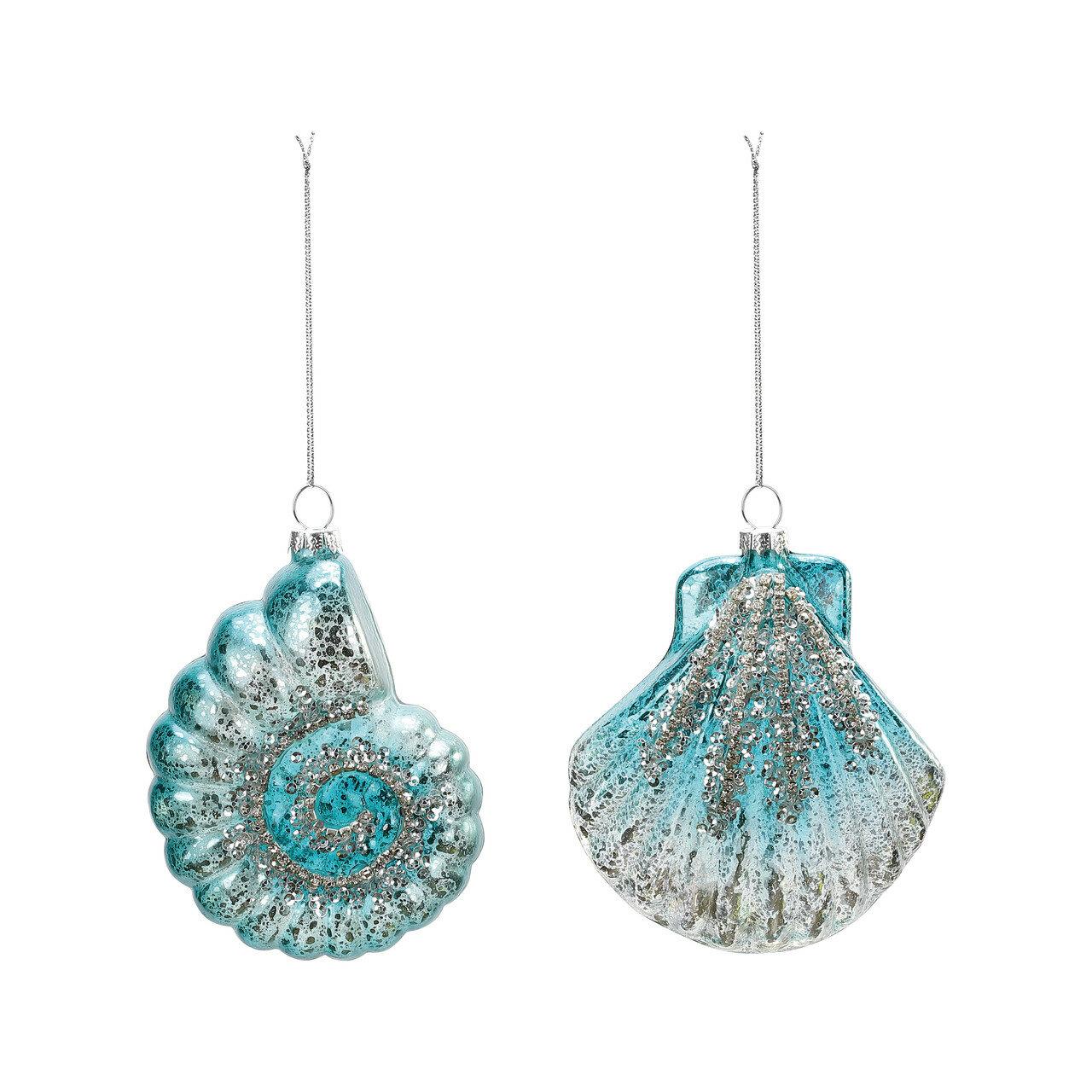 The Holiday Aisle 2 Piece Seashell Hanging Figurine Ornament Set Reviews Wayfair