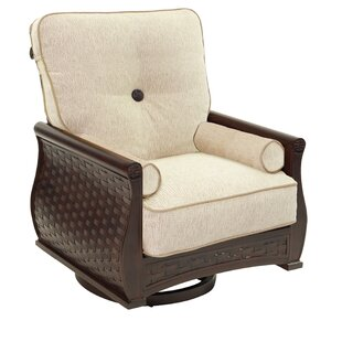 French Quarter High Back Lounge Swivel Rocking Chair with Cushion