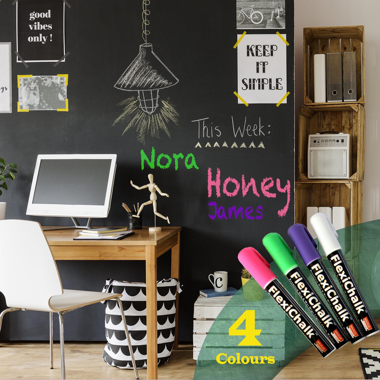 Kids Chalkboard Wall Sticker Home To Do List Writing Message Board Owl Design