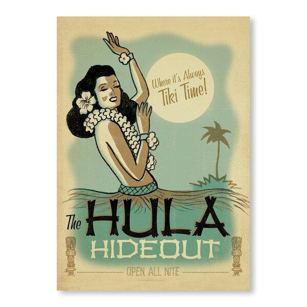 East Urban Home Hula Hide Out Vintage Advertisement Wayfair