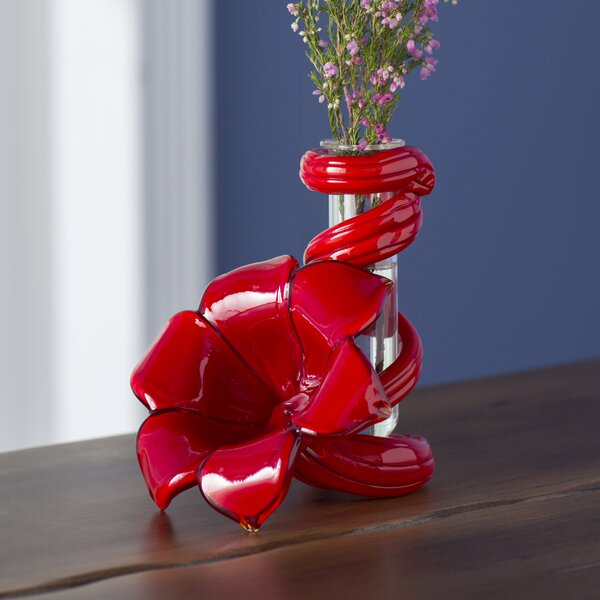 Beachcrest Home Cordero Glass Lily Bud Vase Reviews Wayfair