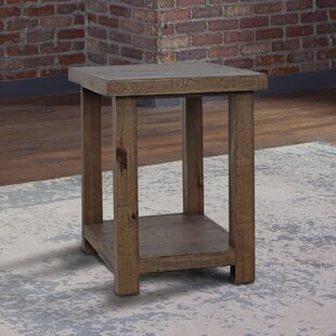 Pontius Solid Wood End Table with Storage by Williston Forge