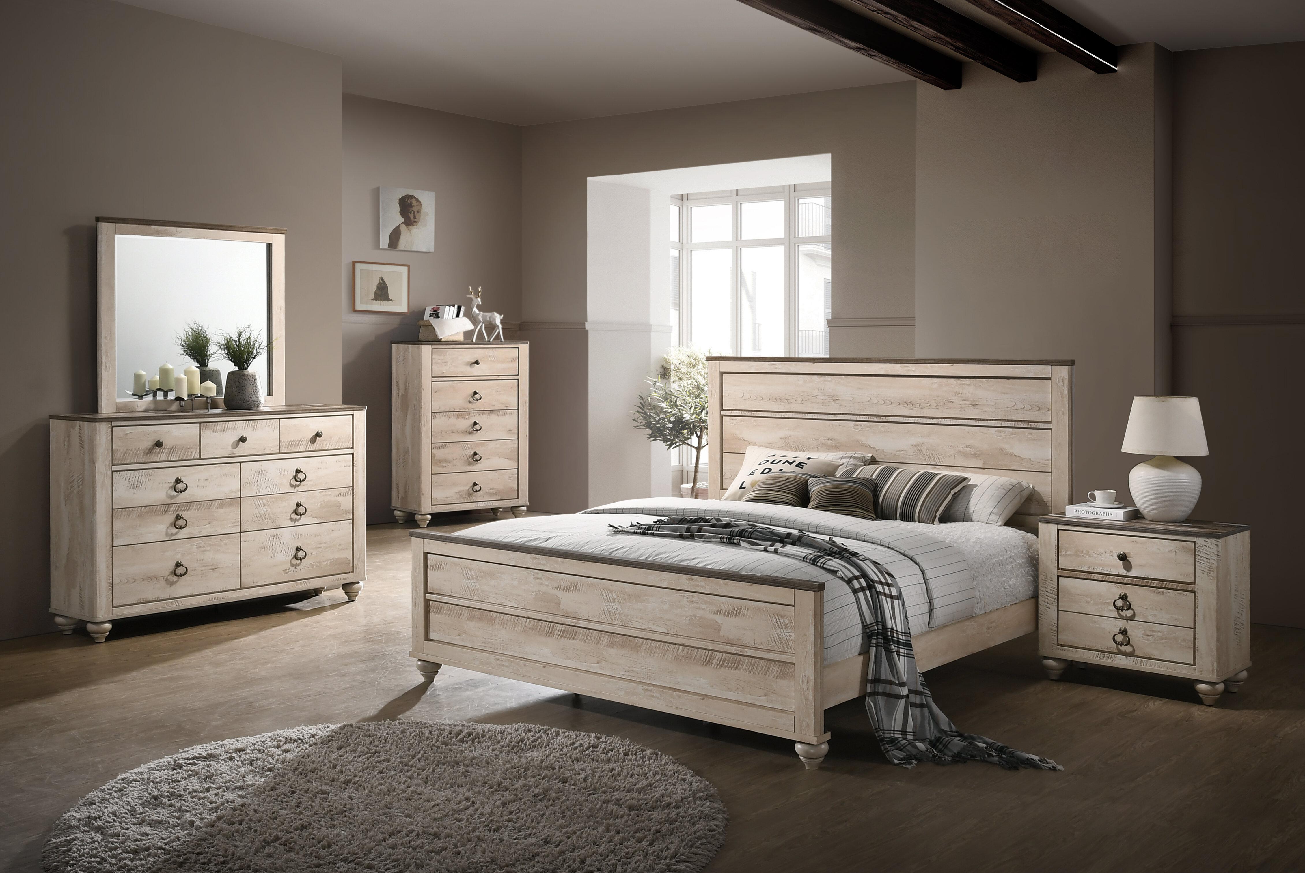 Three Posts Tavistock Panel 5 Piece Bedroom Set & Reviews | Wayfair