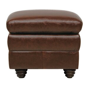 Levi Leather Ottoman by Luke Leather