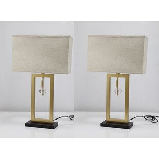 Affordable Price Persis Golden Frame Body 31 Table Lamp (Set of 2) By Brayden Studio