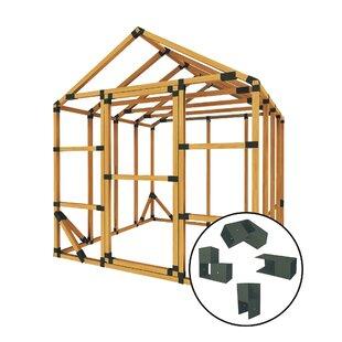 8 Ft. W X 8 Ft. D Storage Shed Kit By E-Z Frames