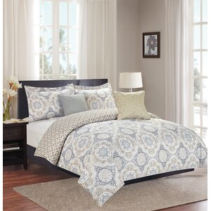 Isiah 5 Piece Reversible Comforter Set