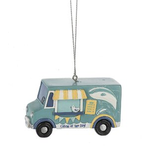 Catch of the Day Food Truck Hanging Figurine
