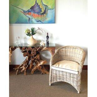 Roisin Bonsun Woven Patio Chair with Cushion