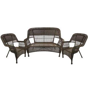 Astounding Jacque Outdoor Patio Furniture 3 Piece Sofa Seating Group Bralicious Painted Fabric Chair Ideas Braliciousco