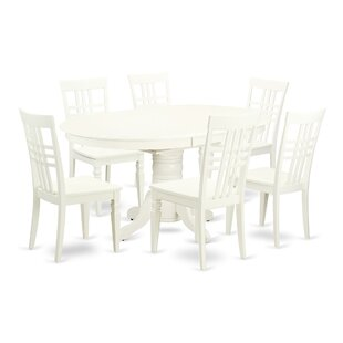 Emmaline 7 Piece Extendable Solid Wood Dining Set by Alcott Hill 2019 Online