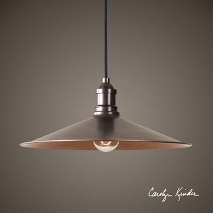 Gracie Oaks Wilmot 1-Light Cone Pendant