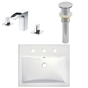 Read Reviews Semi-Recessed Rectangular Vessel Bathroom Sink with Faucet ByRoyal Purple Bath Kitchen