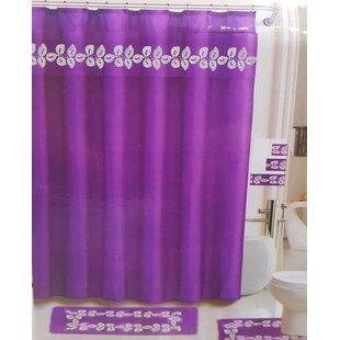 Royal Bath Enredadera Morada Shower Curtain Set Of 18