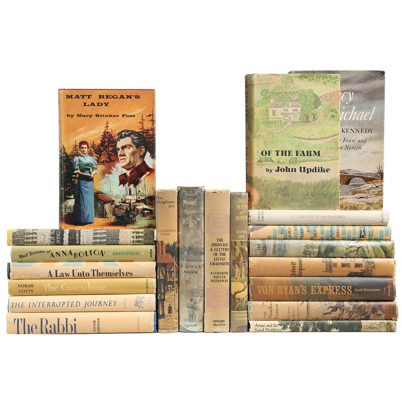 Booth Williams Authentic Decorative Books Custom Set Midcentury Dustjacket Mix Set Of 20 Wayfair