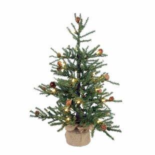2.5u0027 Pine Artificial Christmas Tree With 50 Warm White LED Lights