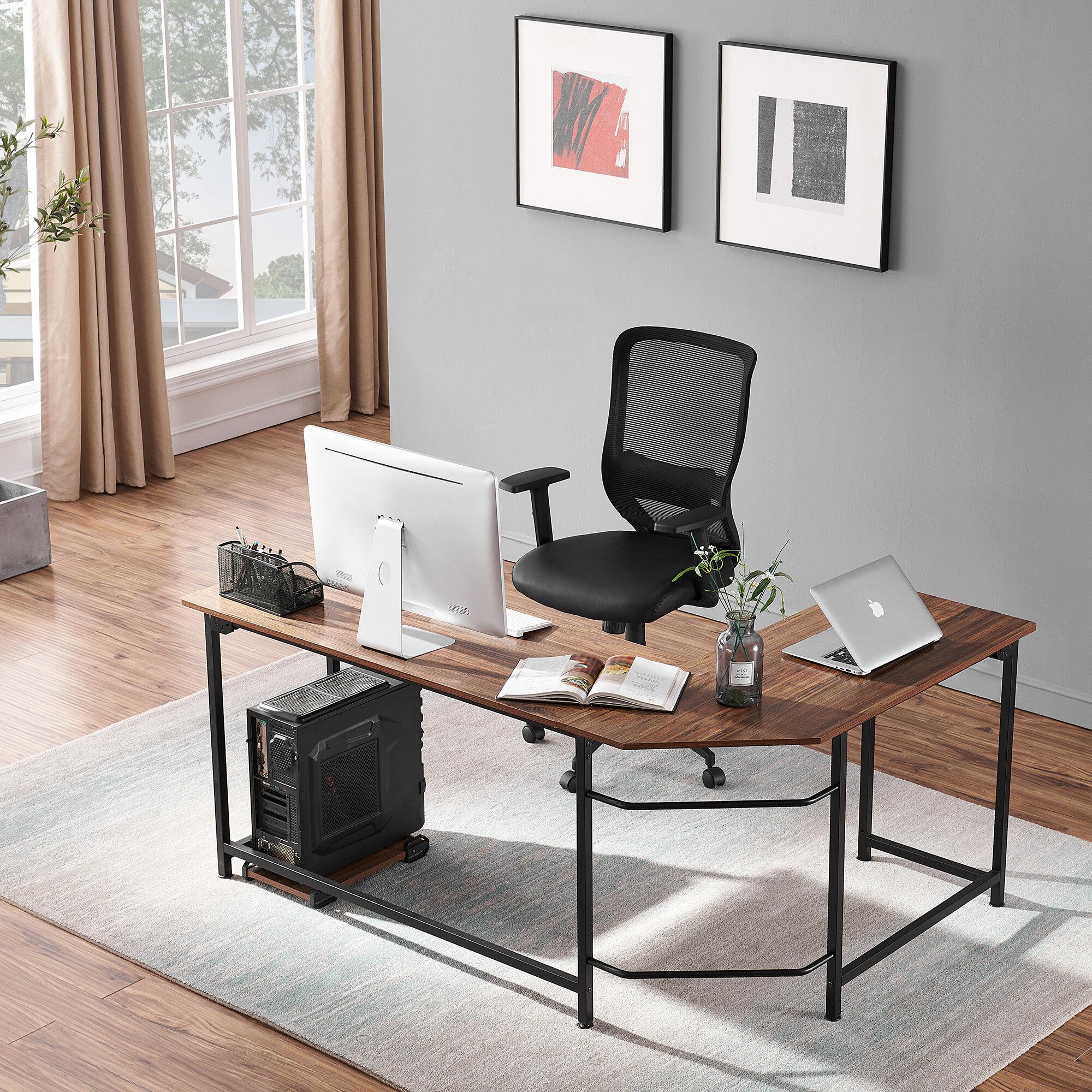 Inbox Zero Reversible L Shape Gaming Desk And Chair Set Wayfair