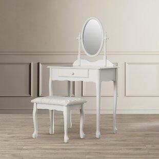 Deerfield 2 Piece Traditional Vanity Set with Mirror