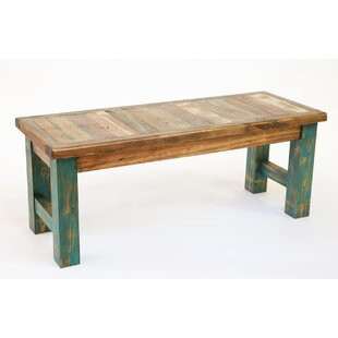 Loon Peak Alysa Reclaimed Old Door Bench