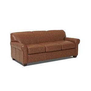 Wayfair Custom Upholstery? Jennifer Leather Sleeper Sofa Image
