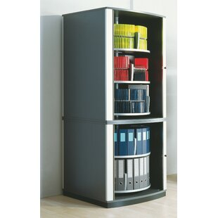 Lockfile Binder and File Carousel Cabinet 85 H Five Shelf Shelving Unit By Moll