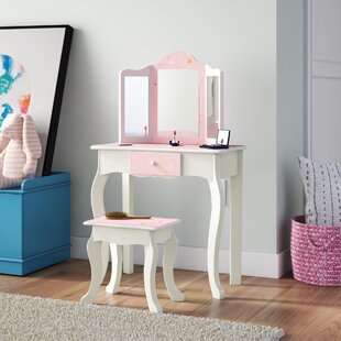 Ealy Dressing Table Set With Mirror By Zoomie Kids