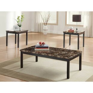 Winston Porter Kennedale Metal 3 Coffee Table Set (Set of 3)