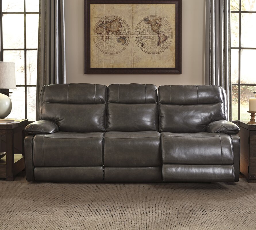 Gigi Leather Reclining Sofa Part 52
