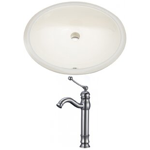 Best Reviews Ceramic Oval Undermount Bathroom Sink with Faucet and Overflow By American Imaginations