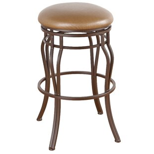 Hughey 34 Swivel Bar Stool Red Barrel Studio