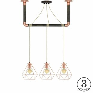 Brayden Studio Diesel 3-Light Kitchen Island Pendant