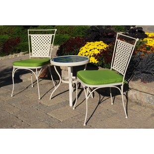 Outdoor Innovation Artisan 3 Piece Bistro Set with Cushions
