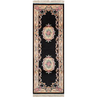 Price comparison Hamblin Hand-Knotted Wool Black Indoor Area Rug By Isabelline